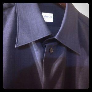 ARMANI COLLEZIONI COTTON DRESS SHIRT LS